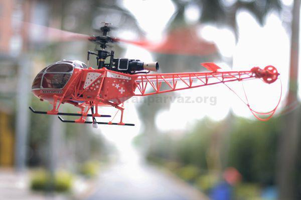 125468596587456 - هلیکوپتر کنترل از راه دور چهارکاناله V915 , مدل لاما ۳