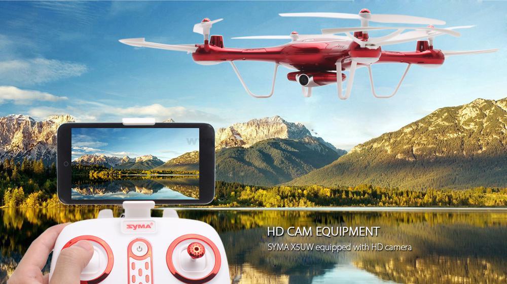14700426704856841 - کوادکوپتر دوربین دار SYMA X5uw با خلبان خودکار