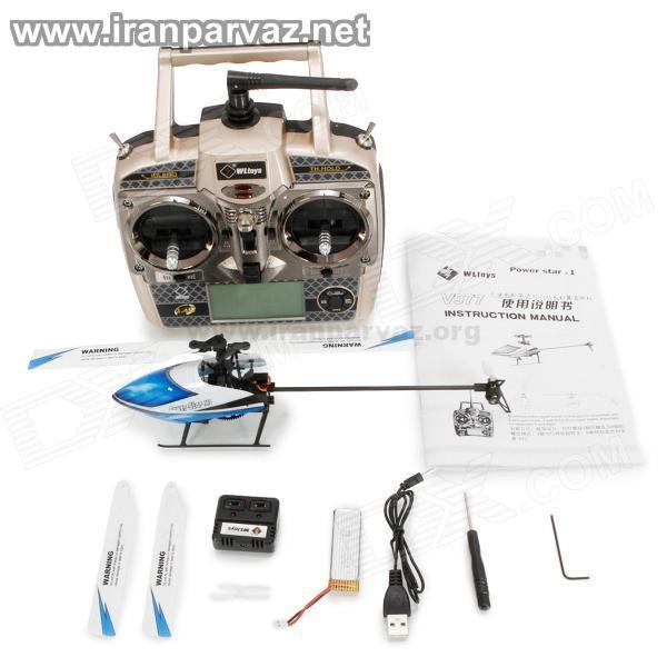 4 5 - هلیکوپتر کنترلی شش کاناله فول آکروباتیک WLToys V977 , مخصوص حرفه ای ها