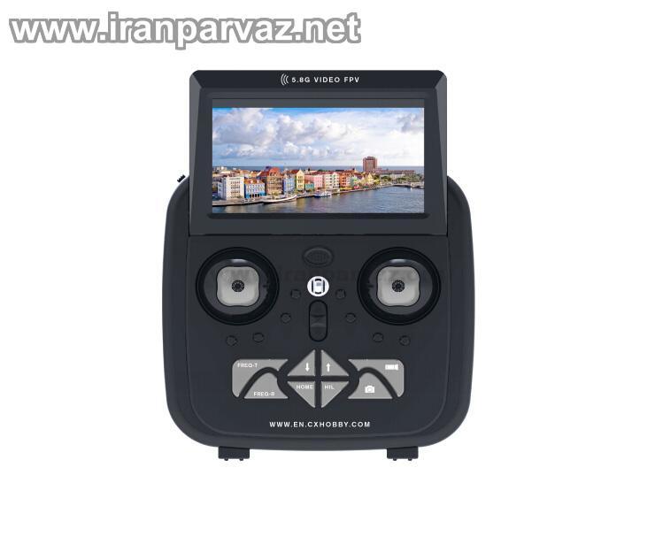 HR1921 91 - کوادکوپتر CX35 با دوربین متحرک و گیمبال با ارسال تصویر روی مانیتور