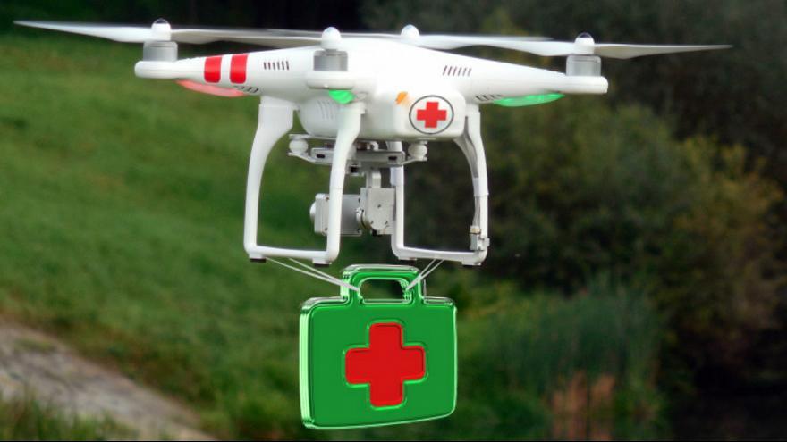 880x495 389242 - پهپادها می توانند با حمل کیسه های خون، به تیم های پزشکی کمک کنند