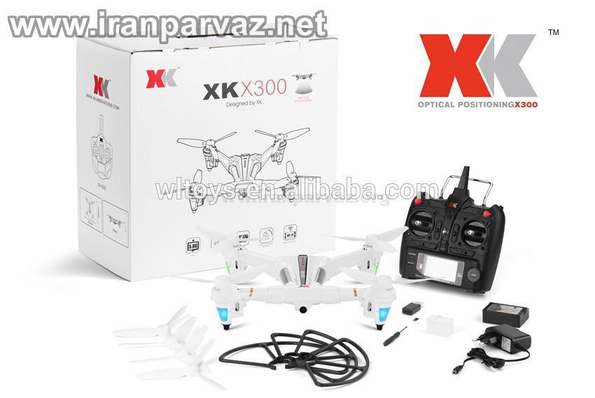 WLTOYS XK X300 2 4GHz 5CH Drone - کوادکوپتر XKX300 مانیتوردار و دوربین دار هوشمند با سنسور Optical