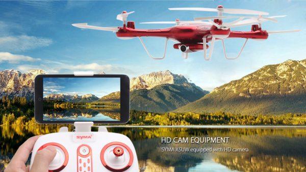 کوادکوپتر دوربین دار SYMA X5uw با خلبان خودکار
