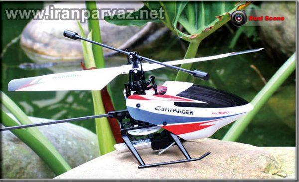 هلیکوپتر کنترلی چهار کاناله تک محور WLToys V911 Pro , سایز مینی
