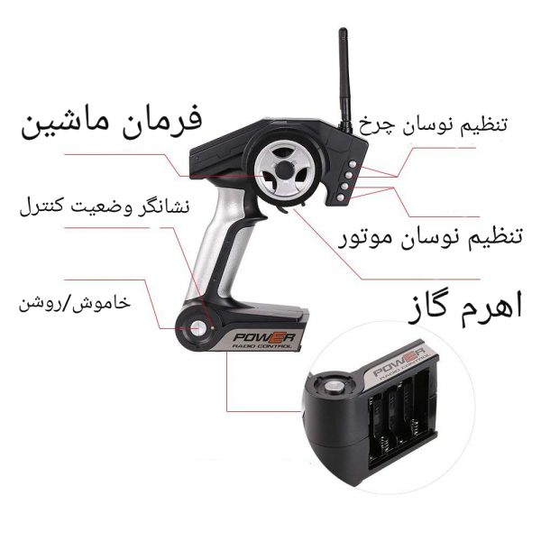 ماشین کنترلی آفرود حرفه ای سرعتی WLToys l969 , سریع و پرقدرت