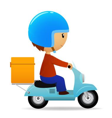 273498delivery cartoon scooter - رویه های ارسال سفارش