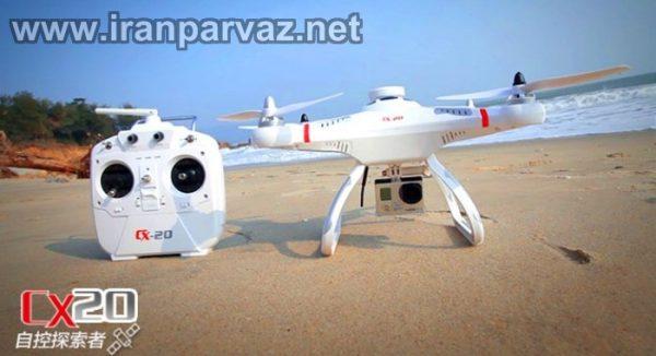 کوادکوپتر حرفه ای CX20 با GPS و خلبان خودکار و موتور براشلس