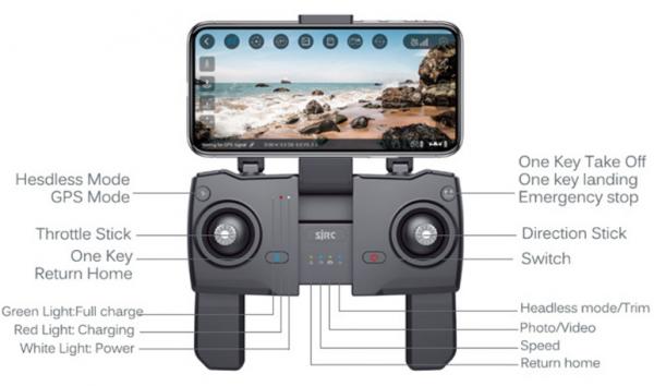 کوادکوپتر دوربین دار حرفه ای جی پی اس دار SJRC F11 | کوادکوپتر GPS دار F11