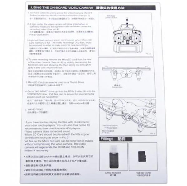 کوادکوپتر مینی X40V | مینی کوادکوپتر دوربین دار