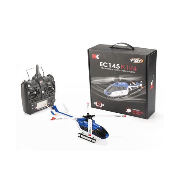 هلیکوپتر کنترلی K124 | هلیکوپتر کنترلی نیمه حرفه ای wltoys